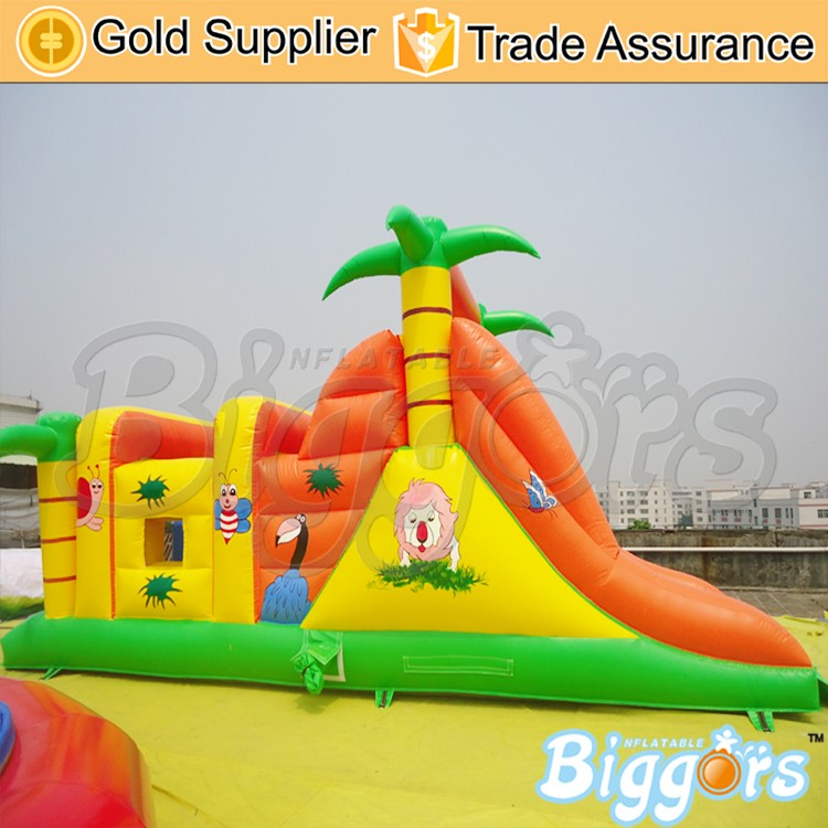 Jungle Moonwalk Giant Inflatable Obstacle Course For Sale