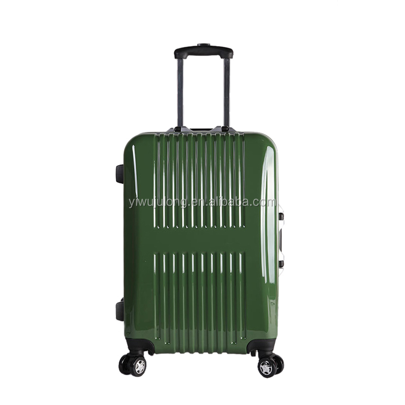2017 Fashionable Green 24 Inch ABS PC Material Luggage Case