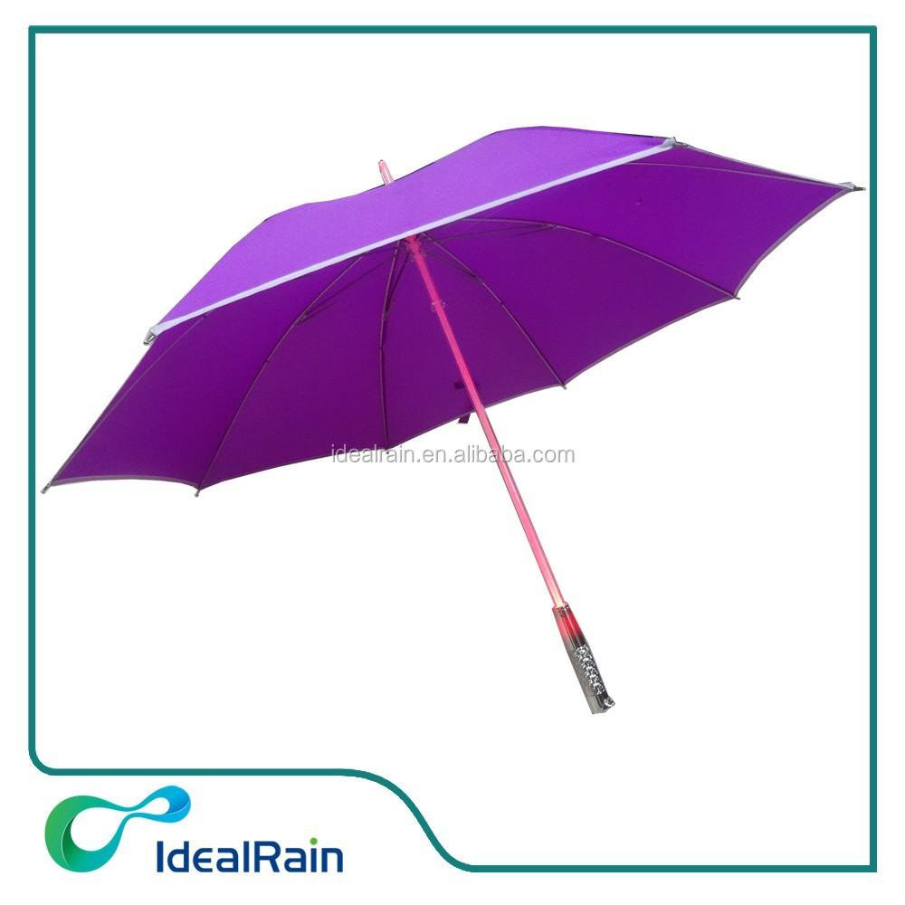 23 inches purple color solar power umbrella light
