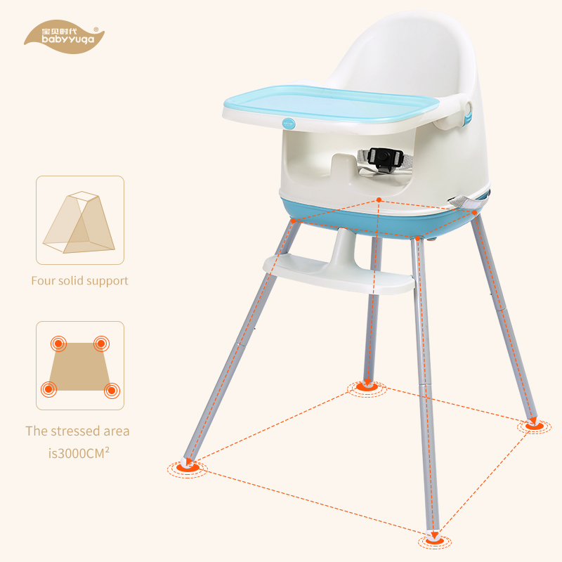 EN14988 CE approved feeding love high baby high chair