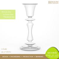 Custom Handmade Borosilicate Glass Candle Holder Centerpieces
