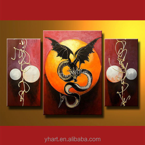 Wholesale modern animal art dragon oil painting