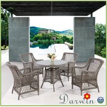 Superior Rattan Furniture Restaurant Dining Table and Chairs