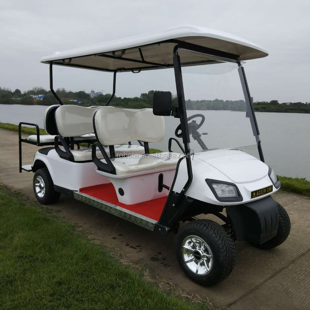 6 Seater Six Persons Seats 4 Wheel Drive Electric Golf Carts Buy 4