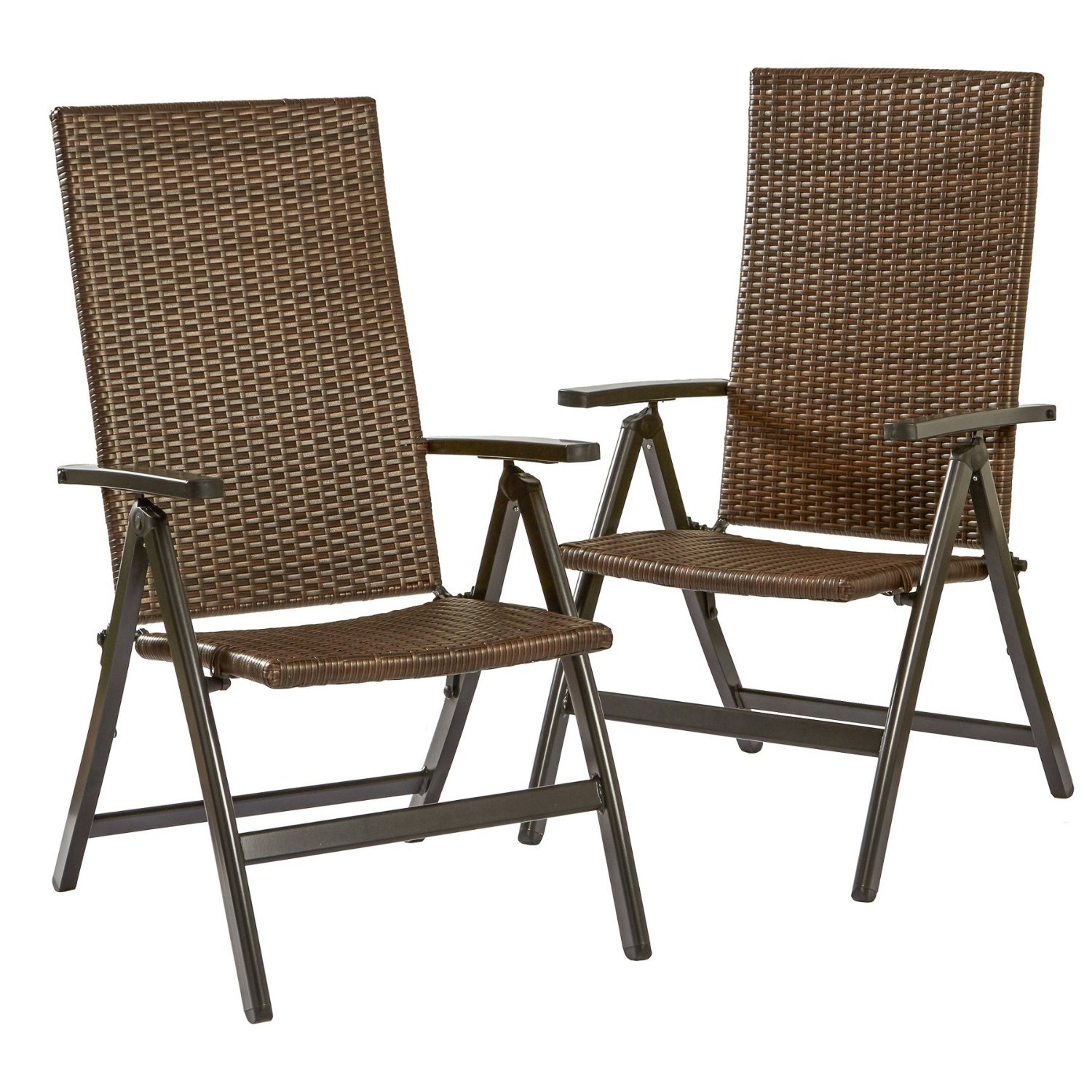 Greendale Home Fashions Hand Woven PE Wicker Outdoor Reclining Chairs