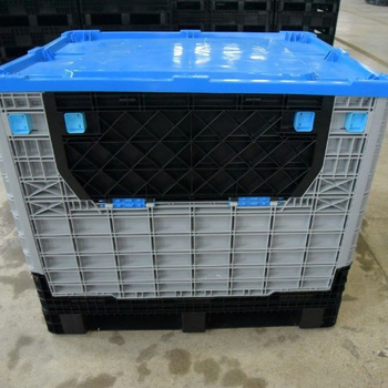large plastic collapsible pallet box pallet bulk container