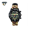 Camping Survival Camo Watch Multifunctional paracord watchband Bracelet