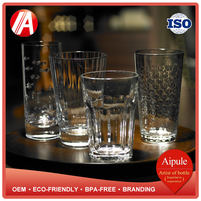 Eco-friendly BPA-FREE OEM new designed drinking glass for whisky