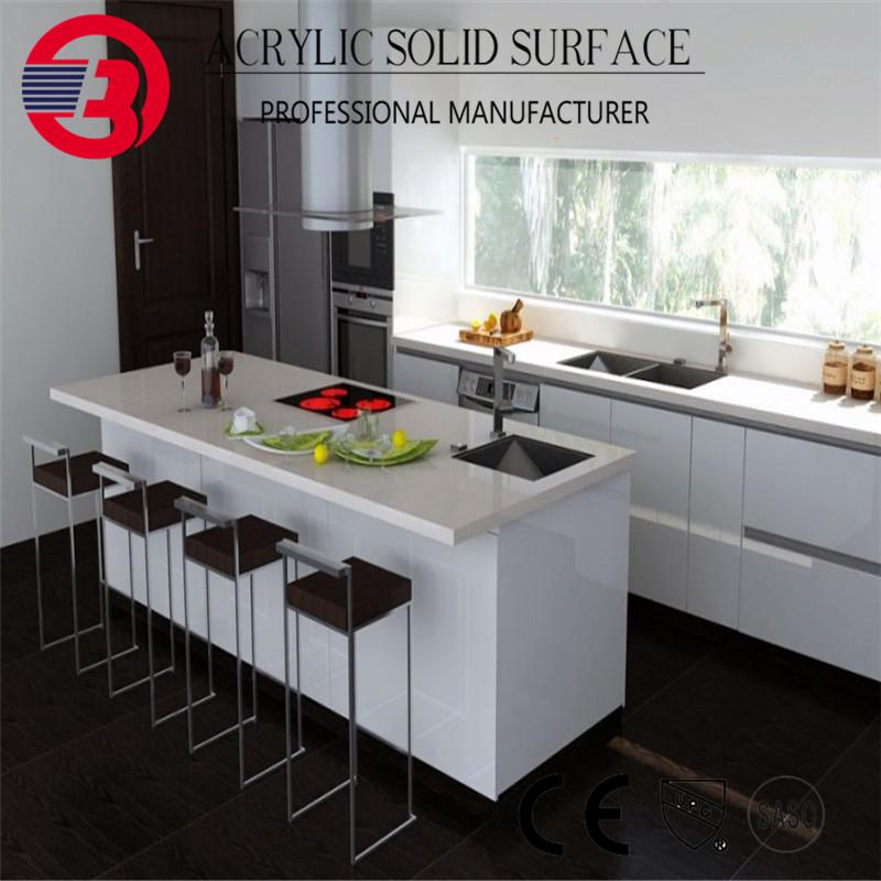 Acrylic Resin Prefab Kitchen Island