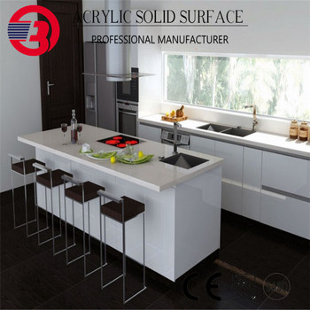 Acrylic Resin Prefab Kitchen Island With Stainless Steel High Stool - Buy  Prefab Kitchen Island,Acrylic Resin Kitchen Island,Kitchen Island With ...