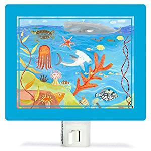 Oopsy Daisy Fine Art for Kids NL515DI Ocean World Night Light by Oopsy Daisy