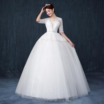 Long Sleeve Lace Princess Wedding Dress
