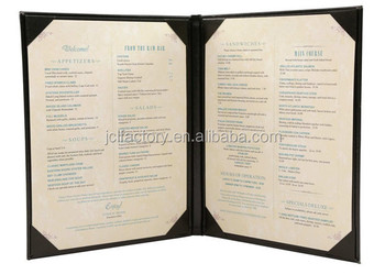 2017 pu fancy leather restaurant a4 leather menu covers buy fancy