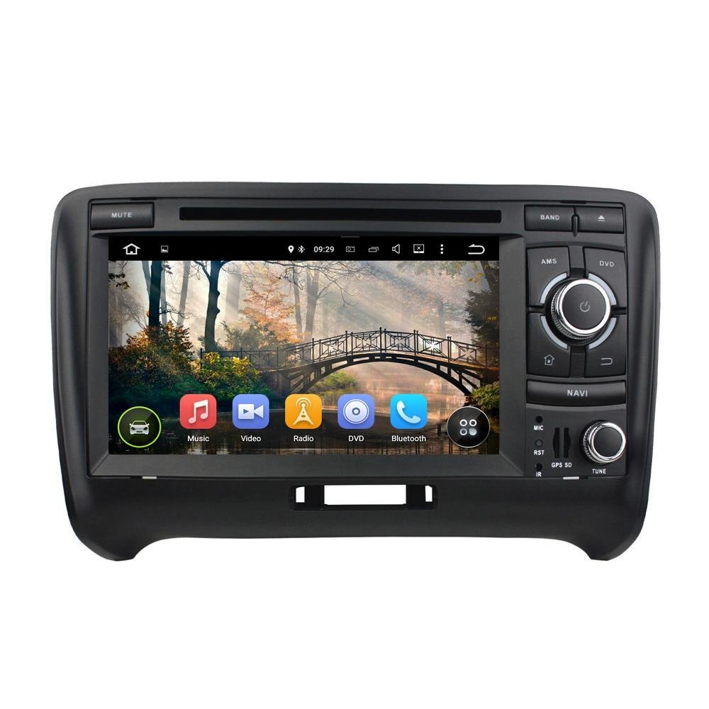 XTTEK 7 inch HD 1024x600 Multi-touch Screen in dash Car GPS Navigation System for Audi TT 2006-2013 Quad Core Android DVD Player+Bluetooth+WIFI+SWC+Backup Camera+North America Map