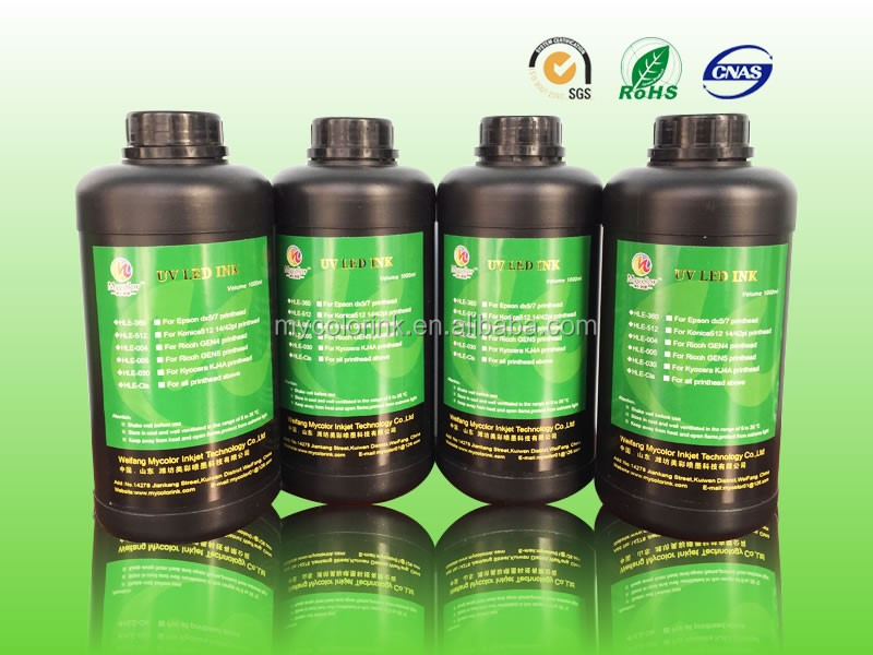 1L Package CMYKLcLmW pvc ink screen printing