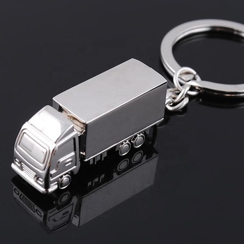 Personalized Brand Customized Logo Gift Truck Zinc Alloy Key Chain