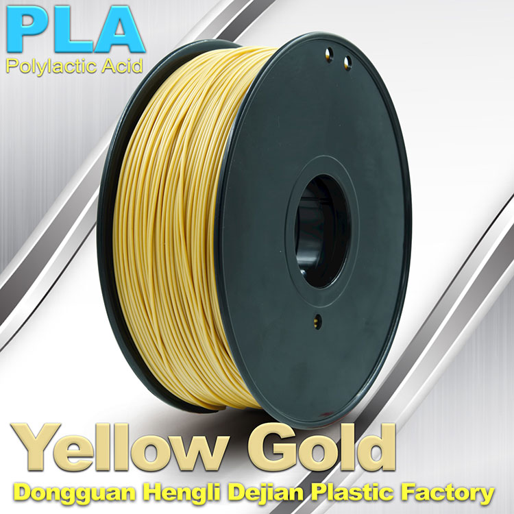 Competitive price gold pla flexible plastic 1.75mm 3d printer filament