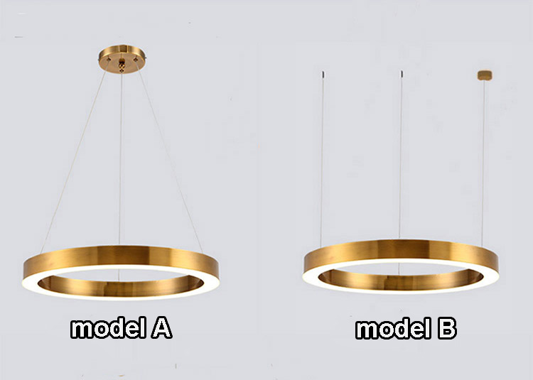 Gold bronze restaurant decorative ceiling pendant lights European luxury hotel rings hanging chandeliers modern lamps