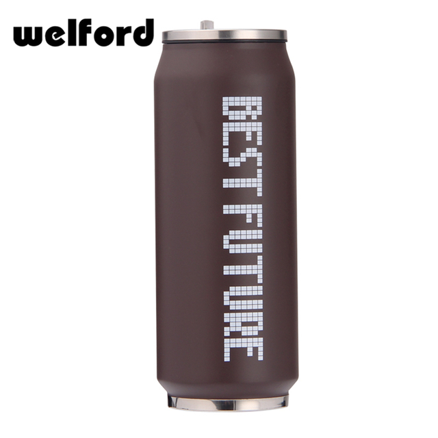 Eco-friendly sealed print stainless steel cola can shape vacuum coke bottle