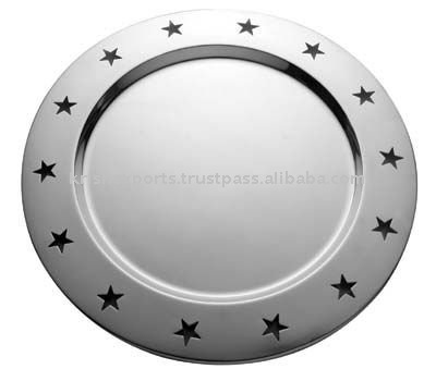 Charger Plate with Star Holes