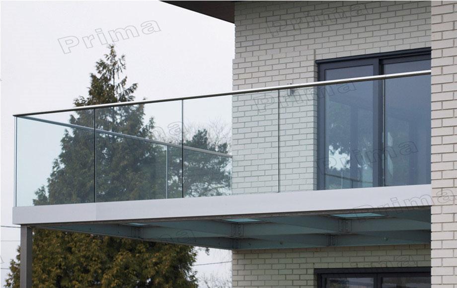 Moderne Aluminium Und Gehartetem Glas Fur Balkongelander Buy