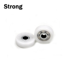 Cheap custom small rubber roller with bearing plastic pulley wheels