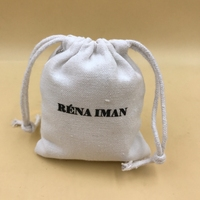 Fashion mini cotton drawstring bags/cotton jewelry pouches