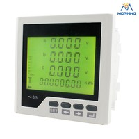 ME-3D3Y panel size 96*96mm factory price 3 phase AC LCD digital energy meter,adding switch output and alarm output