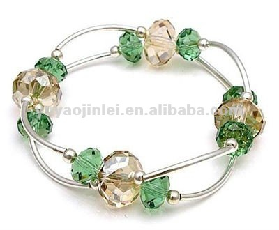 Green octagon beads bracelet,Acrylic beads bracelet 2013,Fashion accessories