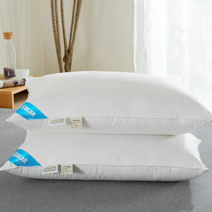 2019 new product hot sale white duck goose feather down neck body pillow for hotel and home super soft pillow cotton cover