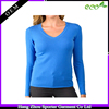 16FZCAS10 V-neck flat knit 100% cashmere sweater women