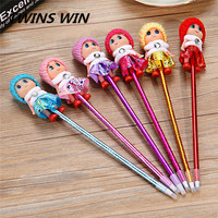2018 Custom Cheap advertising Office & School Supplies stationery promotion luxury big plastic Cartoon characters ballpoint pen