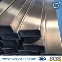 stainless steel welded pipes 304 square finish polished