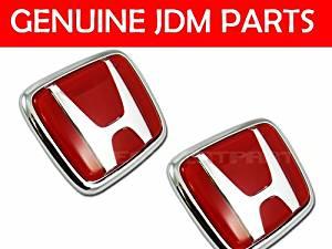JDM Red-h Front & Rear Emblem Honda Civic Ek9 Ek 96-00 2 Emblem