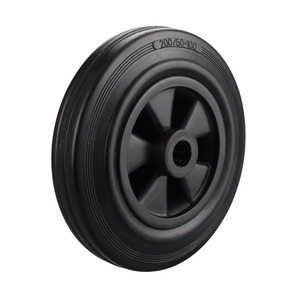 Factory wholesale high quality semi pneumatic solid rubber wheel