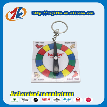 Funny Spinner Plastic Keychain Toys For Kids