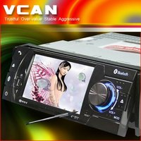 4 inch 1 din lcd car DVD player with TV/BT/IPOD