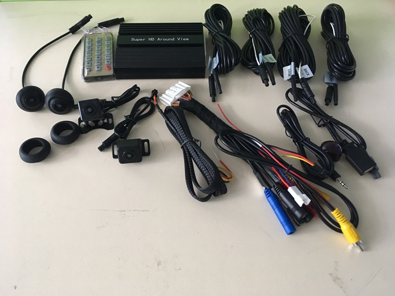 Surround view car monitor macchina fotografica da 360 gradi uccello vista system con 4 telecamera HD 170 gradi grandangolare sistema di parcheggio