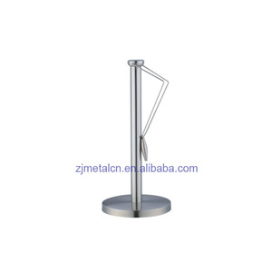 high quality stainless steel tissue roll holder standing kitchen paper towel holder