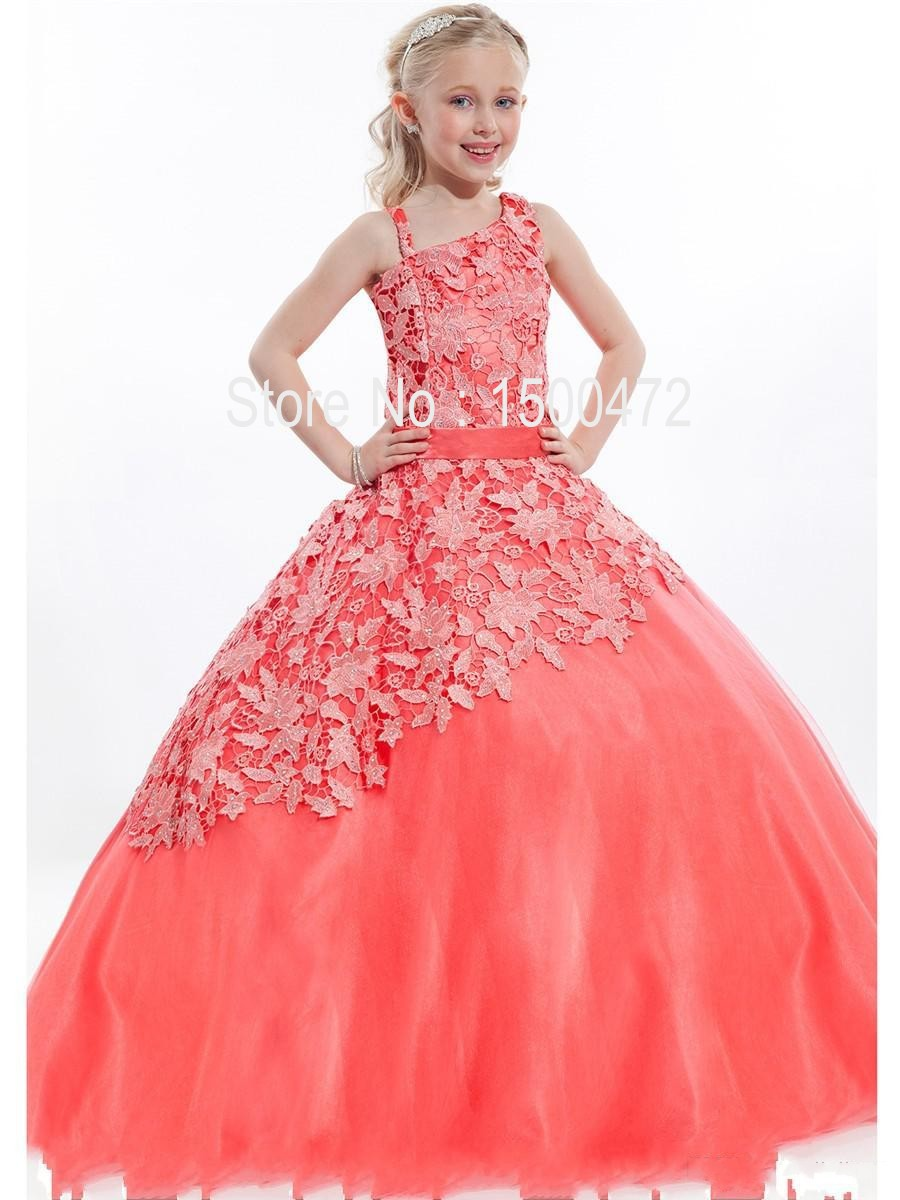 Buy 2015 New Arrival Lovely Girl Pageant Ball Gown Sexy Halter Beads ...