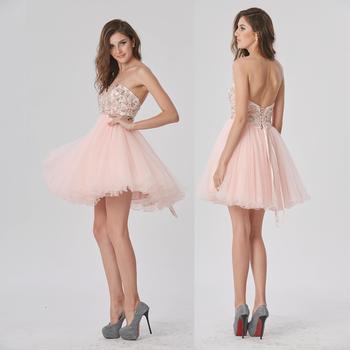 c06a011dcb175 Çin toptan kısa tatlım yaka pembe prenses düşük fiyat mezuniyet elbiseleri