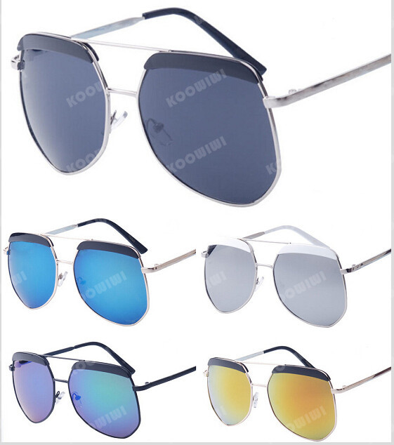 219c2fcd524 Get Quotations · New Fashion Mirror Sunglasses Men Women Brand Designer Ray Aviator  Sun Glasses Vintage Polygon Frame Unisex