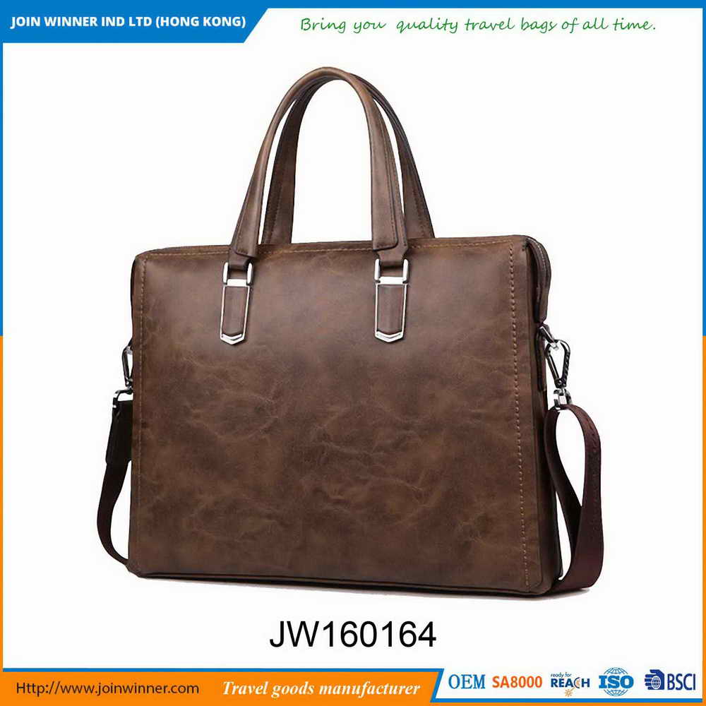 Environmental Protection Gent Leather Bag Manufactured In China