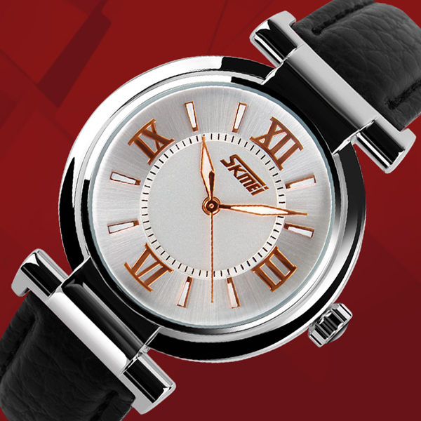 Wholesales Price SKMEI 9075 Lady Watch With Leather Bracelet