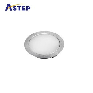Round super thin high luminous efficiency recessed LED under cabinet light