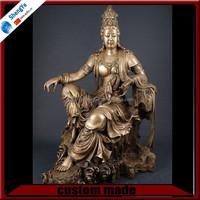 Life Size Bronze Buddha Kuan Yin Statue Sculpture
