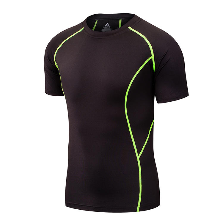 2017 Short Sleeve Muscle mens Gymcycling clothing Running fitness clothing