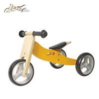 2-in-1 Wooden Baby Tricycle and Bike for Kids Balance Training