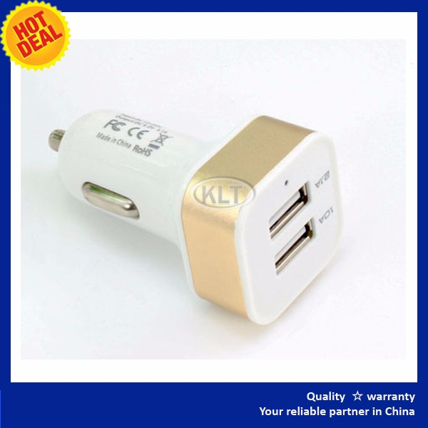 2016 matallic golden Dual Ports 2 USB Power Adapter UK Wall Plug Mains Charger for iPhone iPad