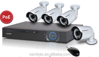 Outdoor Wireless Wifi 720P HD IP camera 4ch poe nvr kit CCTV Camera Security system